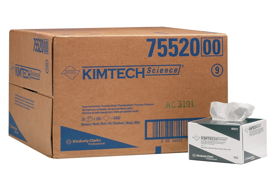 KC7551 KIMTECH PRECISION WIPE BOX 15 X 196 SHEETS 1PLY WHITE