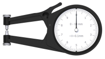 External Dial Caliper Gauge 0-10mm, 0,1mm