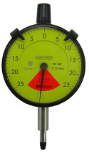 Dial Indicator, Flat Back 0,5mm, 0,01mm, One Revo. Dust/
