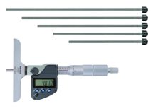 Digital Depth Micrometer Inch/Metric, 0-6inch, incl. 6 Rod