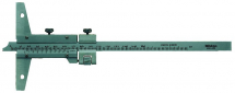 Vernier Depth Gauge 0-200mm, Fine Adjust., 0,02mm,