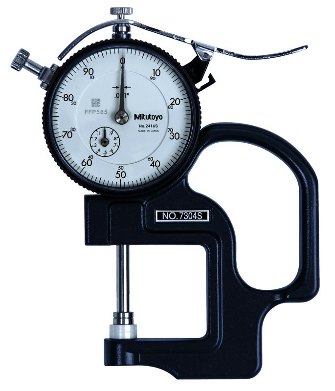 Dial Thickness Gauge 1inch .001inch/1.2 Throat