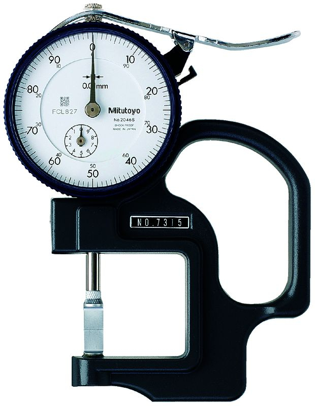 Dial Thickness Gauge 10mm .01mm 30mm Throat