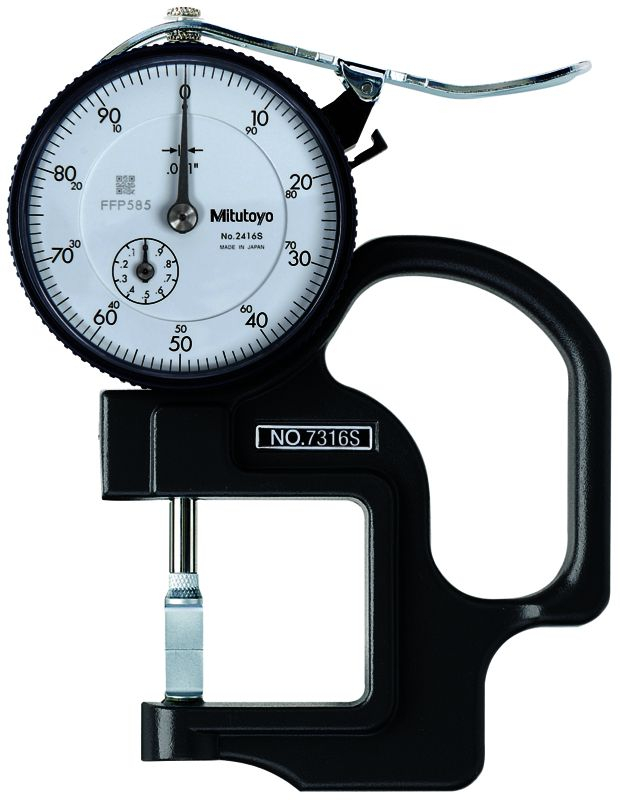 Dial Thickness Gauge .04inch .001inch 1.2inch Throat