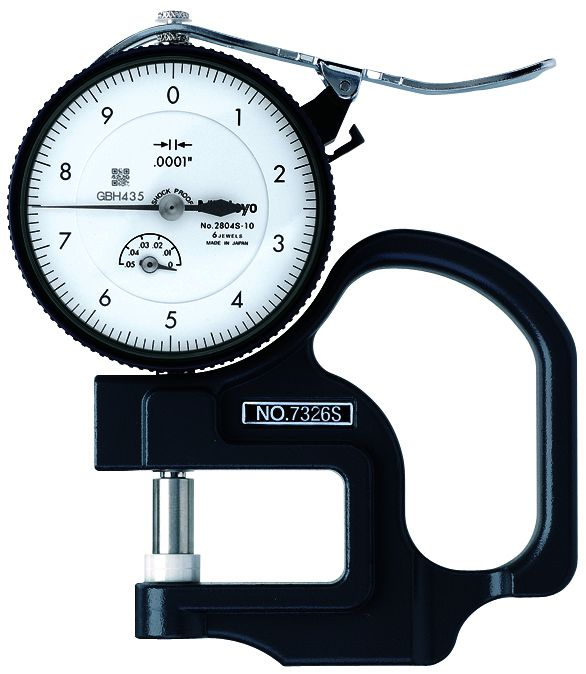 Dial Thickness Gauge .05inch .0001inch 1.2inch Throat
