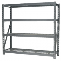 Heavy-Duty Racking Unit with 4 Mesh Shelves 800Kg Capacity PS