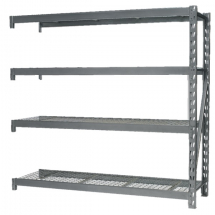 Heavy-Duty Racking Extension Pack With Mesh Shelves 800Kg