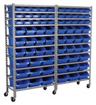Mobile Bin Storage System 72 Bins