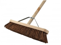 FAI/FULL STIFF BASS BROOM 18IN + HANDLE & STAY
