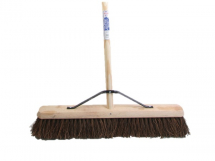 FAI/FULL STIFF BASS BROOM 24IN + HANDLE & STAY