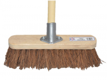 FAI/FULL BASSINE BROOM 12IN C/W 48IN HANDLE