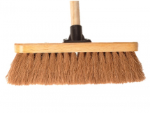 FAI/FULL COCO BROOM 12IN C/W 48IN HANDLE