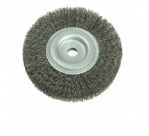 Wheel Brush D178mm x W23-25 x 50 Bore Set 3 Steel Wire 0.30