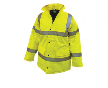 Hi-Vis Motorway Jacket Yellow - M (41in)