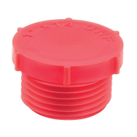 Red LDPE Threaded Plugs